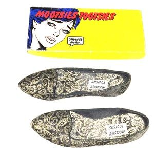 Gold paisley loafers✨